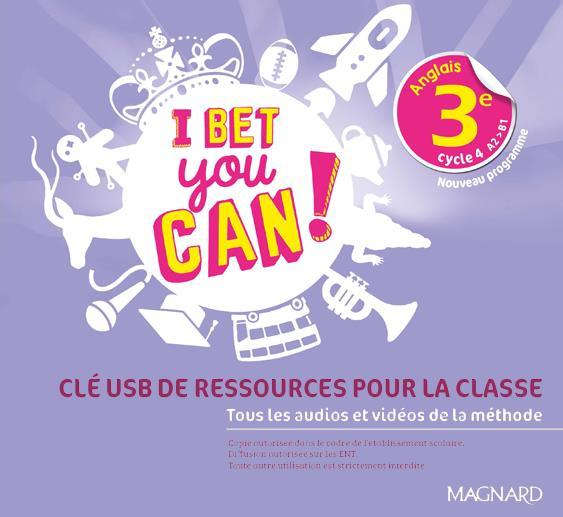 I Bet You Can! ; anglais ; 3e ; clé USB (édition 2020)