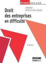 Vente Livre Numérique : Droit des entreprises en difficulté - 8e édition  - Corinne Saint-Alary-Houin