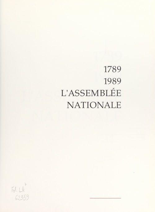 1789-1989, l'Assemblée Nationale