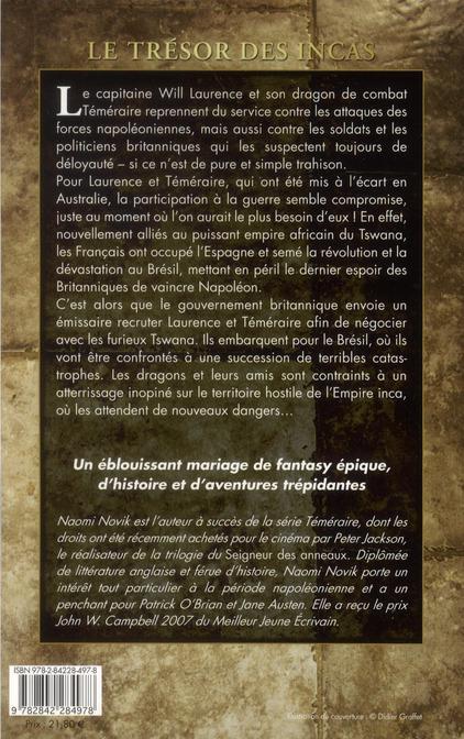 Téméraire T.7 ; le trésor des Incas
