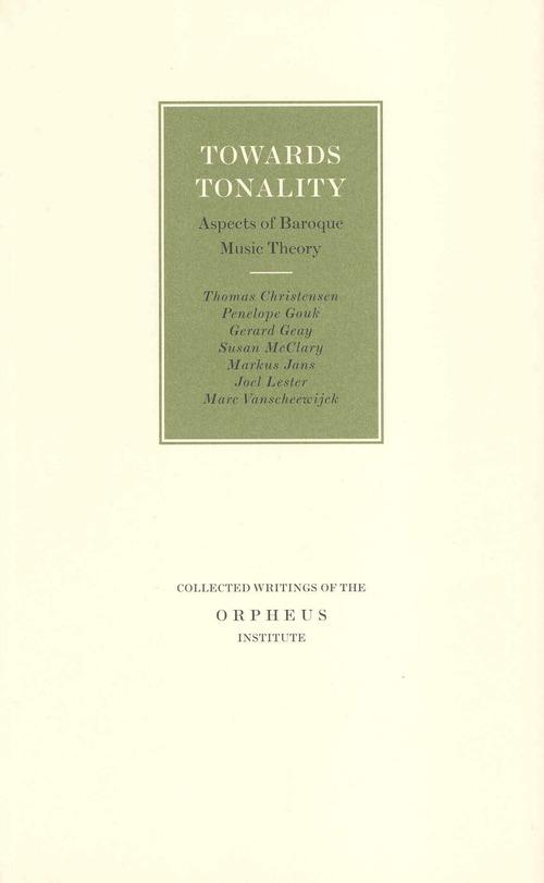 Towards tonality