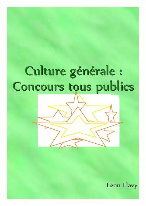 ORAL CULTURE GENERALE CONCOURS*****