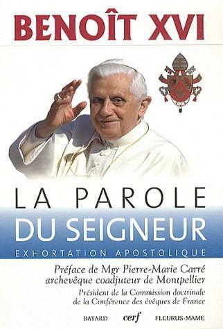 LA PAROLE DU SEIGNEUR  -  EXHORTATION APOSTOLIQUE
