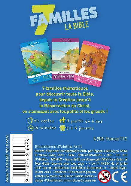jeu des 7 familles ; la Bible