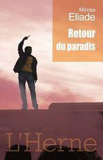 Vente Livre Numérique : Retour du Paradis  - Mircea Eliade