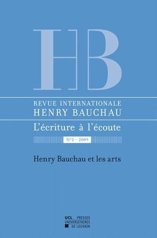 Bauchau et les arts. revue internationale henri bauchau 2-2009