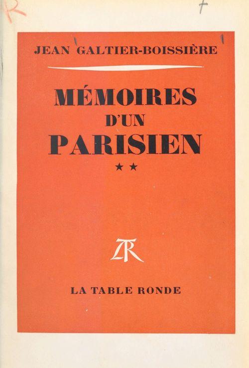 Mémoires d'un Parisien (2)