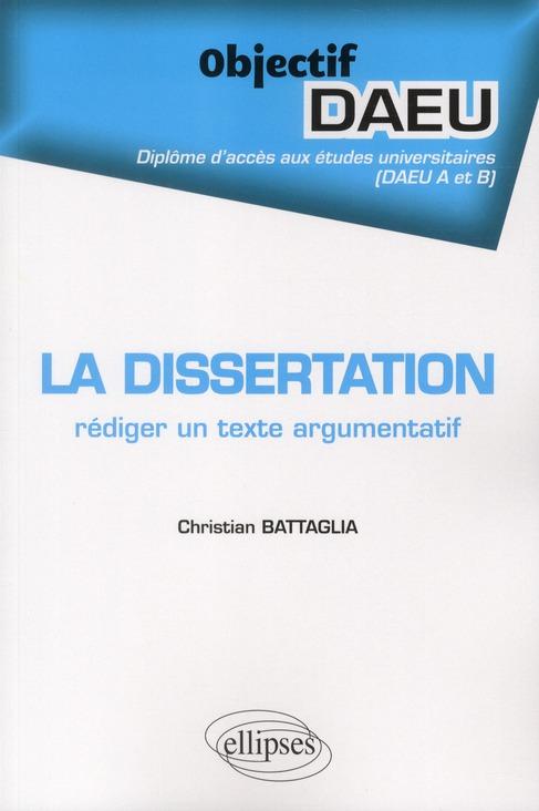 La Dissertation Rediger Un Texte Argumentatif Objectif Daeu A & B