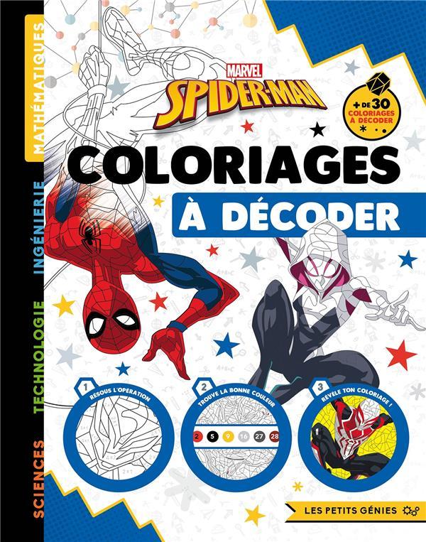 LES PETITS GENIES  -  SPIDER-MAN  -  COLORIAGES A DECODER XXX