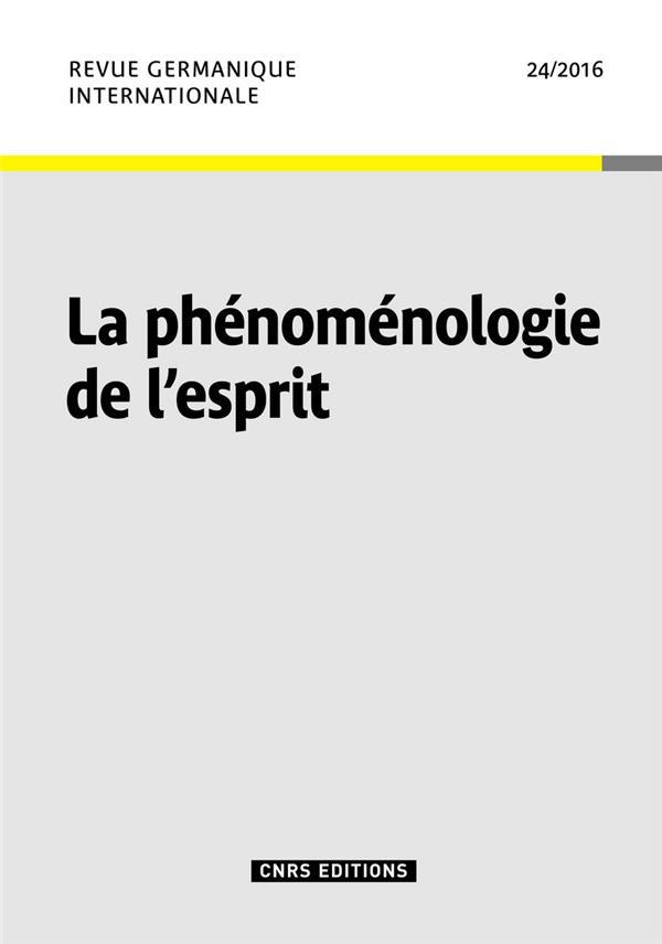 La phenomenologie de l'esprit