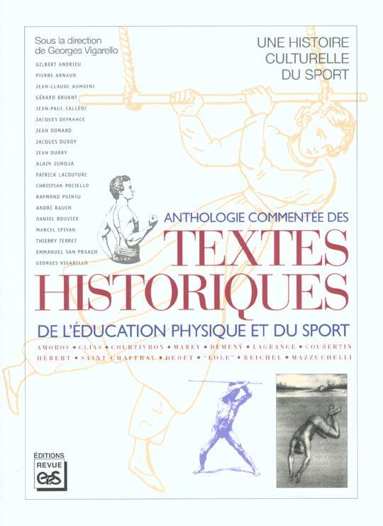 anthologie commentée des textes historiques de l'éducation physique et du sport