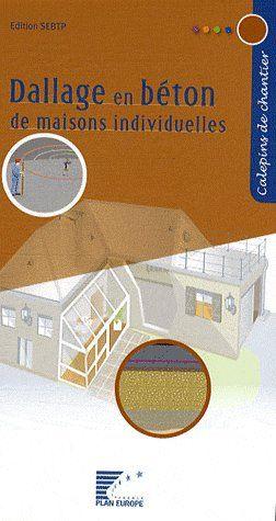 Dallage en béton de maisons individuelles