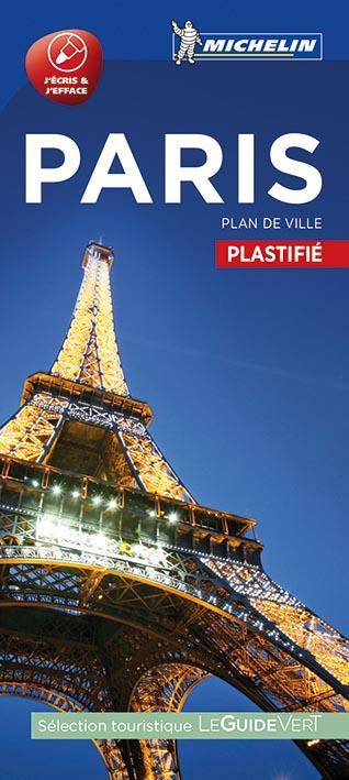PARIS - PLAN DE VILLE PLASTIFIE