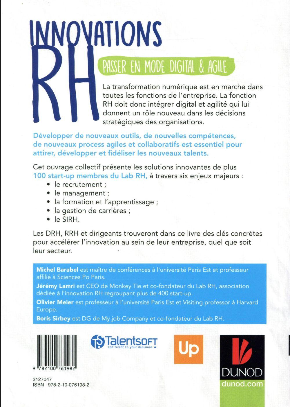 Innovations RH ; les startups RH qui accompagnent la digitalisation des entreprises