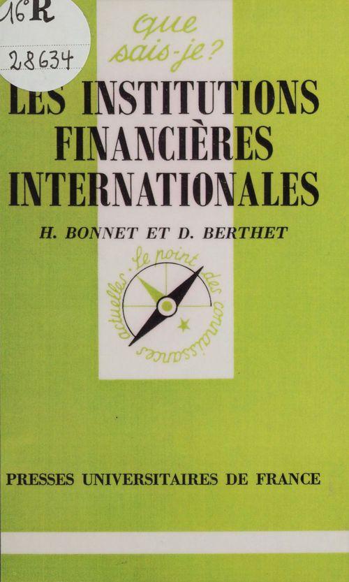 Institutions financieres internationale qsj 44