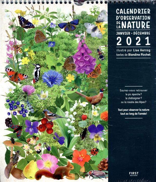 Calendrier de la nature (édition 2021)   Blandine Pluchet, Lise