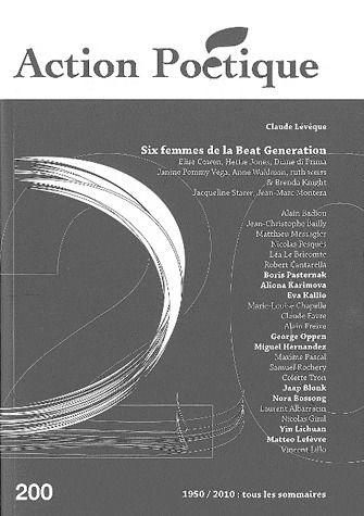 Revue action poetique t.200; six femmes de la beat generation