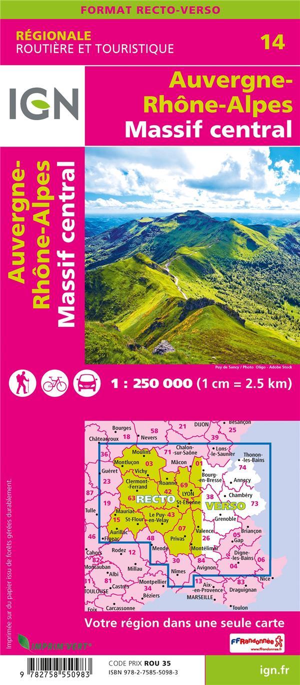 NR14 ; Auvergne-Rhône-Alpes, Massif Central (2e édition)