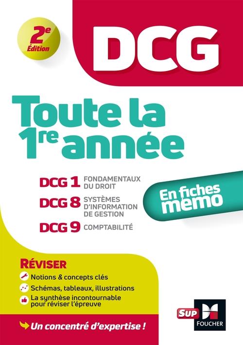 DCG : toute la 1re année ; DCG 1, 8, 9 ; en fiches mémo (2e édition)
