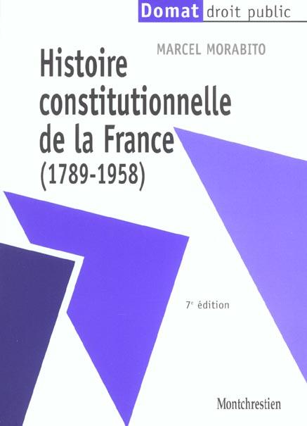 Histoire constitutionnel de la france