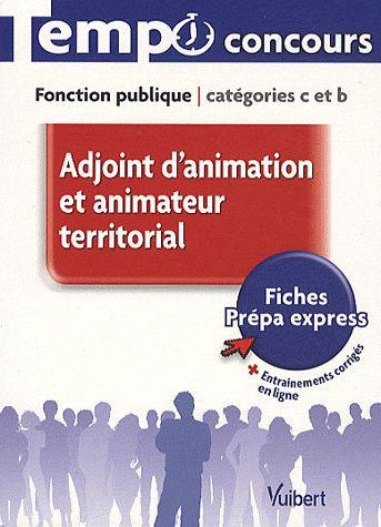 Adjoint D'Animation Et Animateur Territorial ; Fonction Publique Categorie C Et B