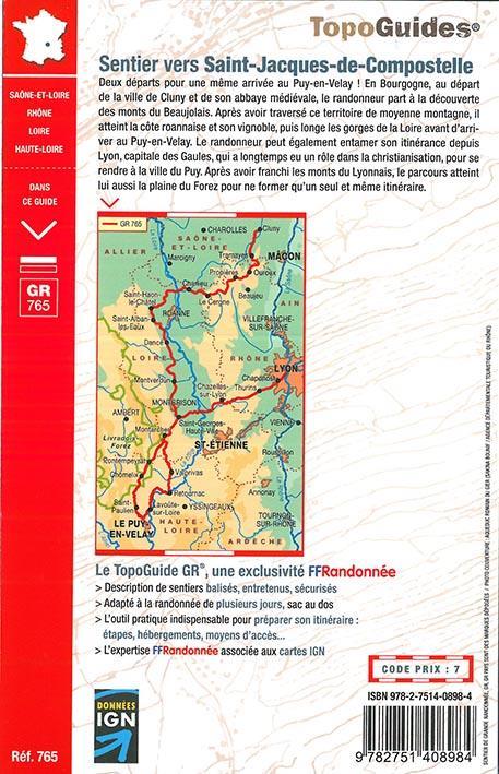 sentier vers Saint-Jacques-de-Compostelle > Cluny - Le Puy / Lyon - Le Puy : GR765 (édition 2018)