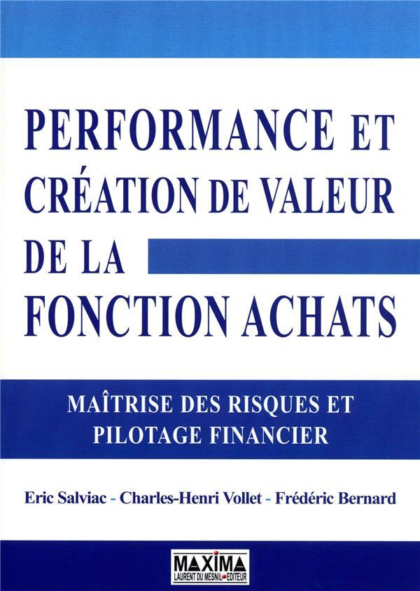 Performance Achats ; Pilotage Financier Et Controle Interne