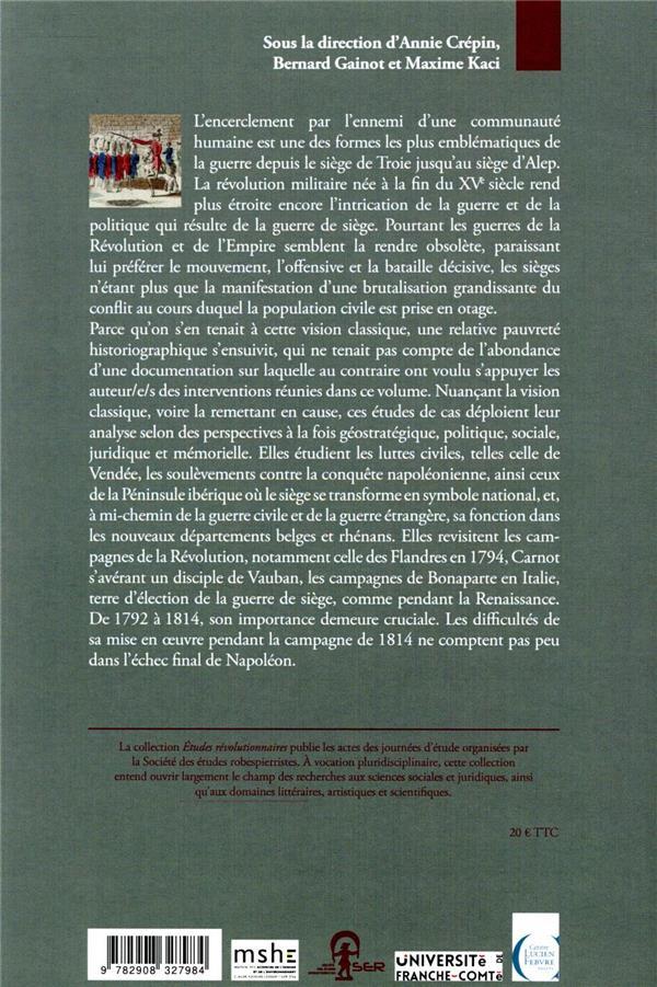 études révolutionnaires T.20 ; villes assiégées dans l'Europe révolutionnaire et impériale