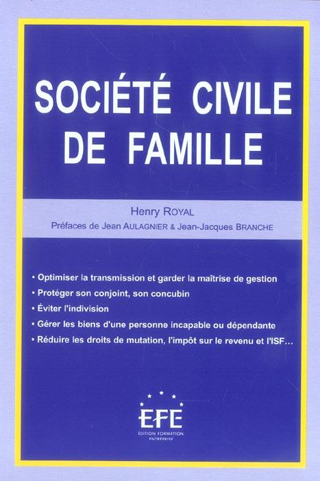 Societe civile de famille (la)