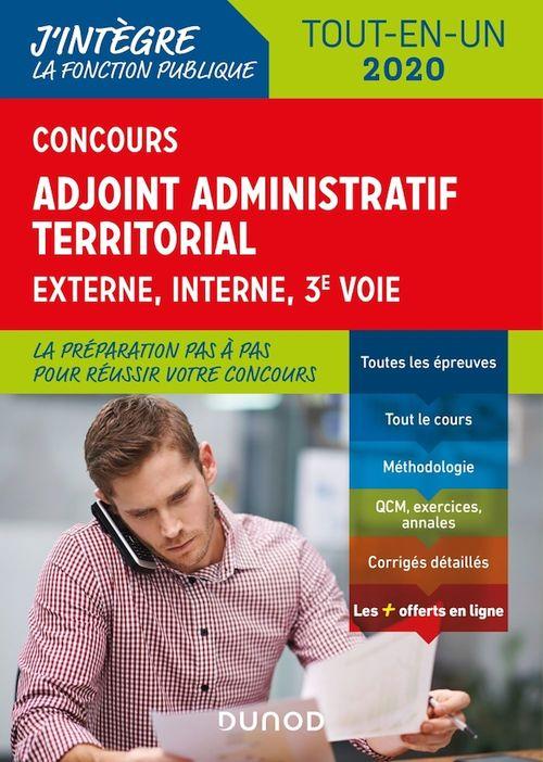 Concours adjoint administratif territorial ; tout-en-un - tout-en-un - concours (édition 2019/2020)
