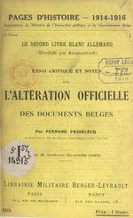Le second livre blanc allemand
