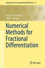 Numerical Methods for Fractional Differentiation  - Kolade M. Owolabi - Abdon Atangana