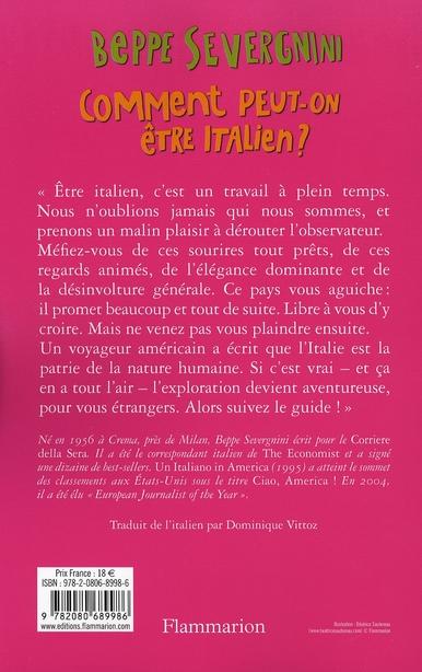 Comment peut-on être italien?