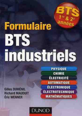 Formulaire Bts Industriels