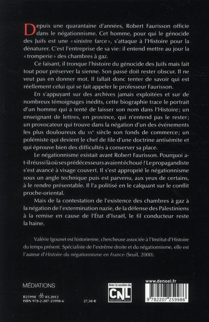 Robert Faurisson ; portrait d'un négationniste