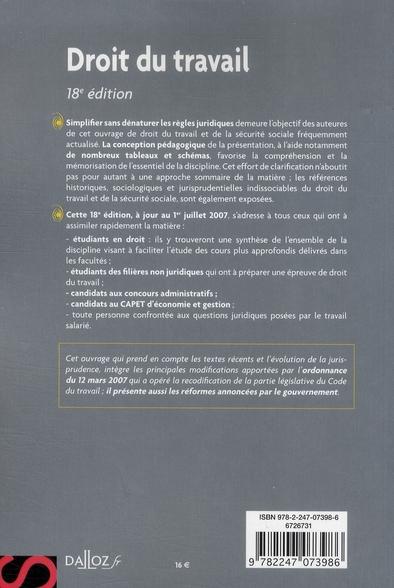 Droit du travail (18e édition)