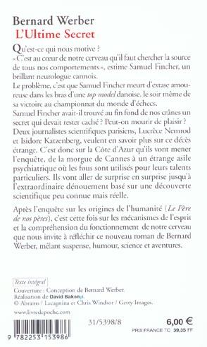 L Ultime Secret Bernard Werber Librairie Generale Francaise Poche Le Hall Du Livre Nancy