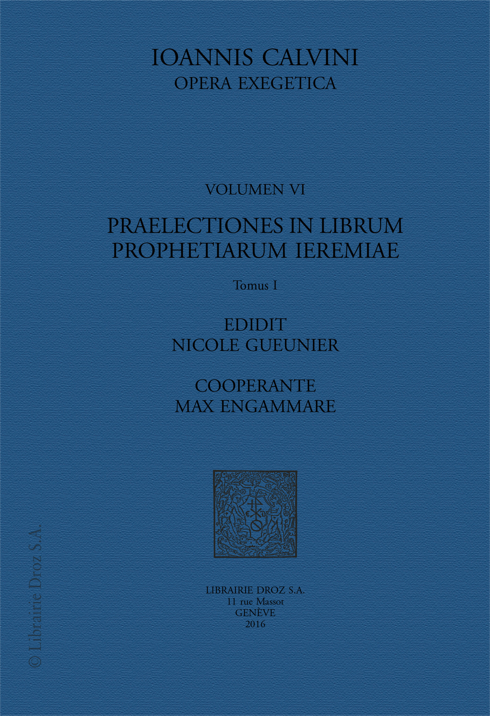 Praelectiones in librum prophetiarum ieremiae  et lamentationes