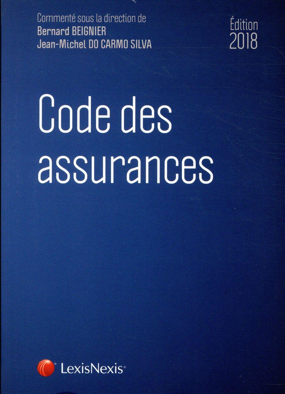 Code des assurances (édition 2018)