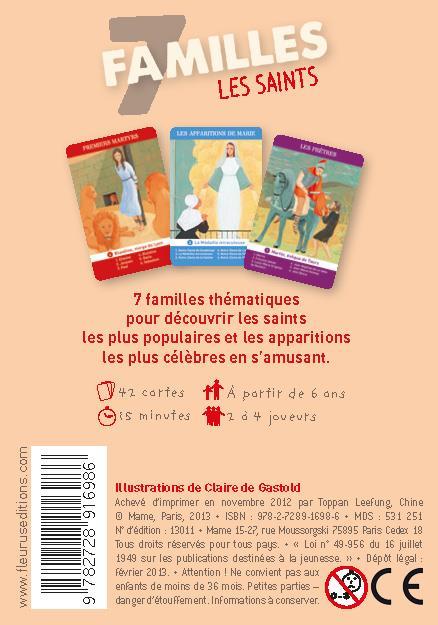 jeu des 7 familles ; les saints