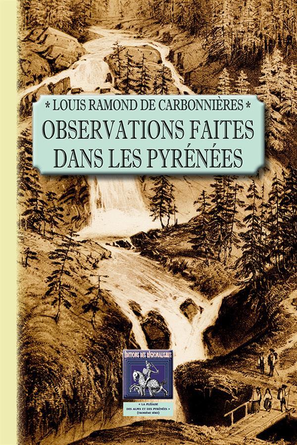 Observations faites dans les Pyrénées