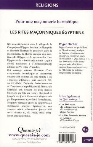 les rites égyptiens