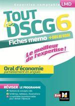 Vente Livre Numérique : Tout le DSCG 6 - Oral d'économie  - Alain Burlaud - Rémi Leurion - Baptiste Didierlaurent - Kevin Rigby