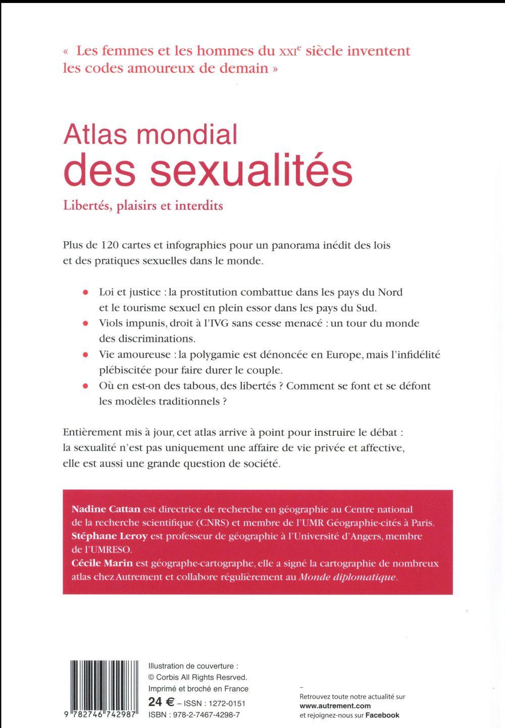 Atlas mondial des sexualités ; libertés, plaisirs et interdits
