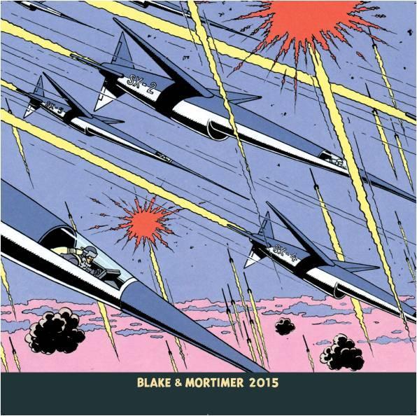 Blake et Mortimer ; calendrier mural (édition 2015)