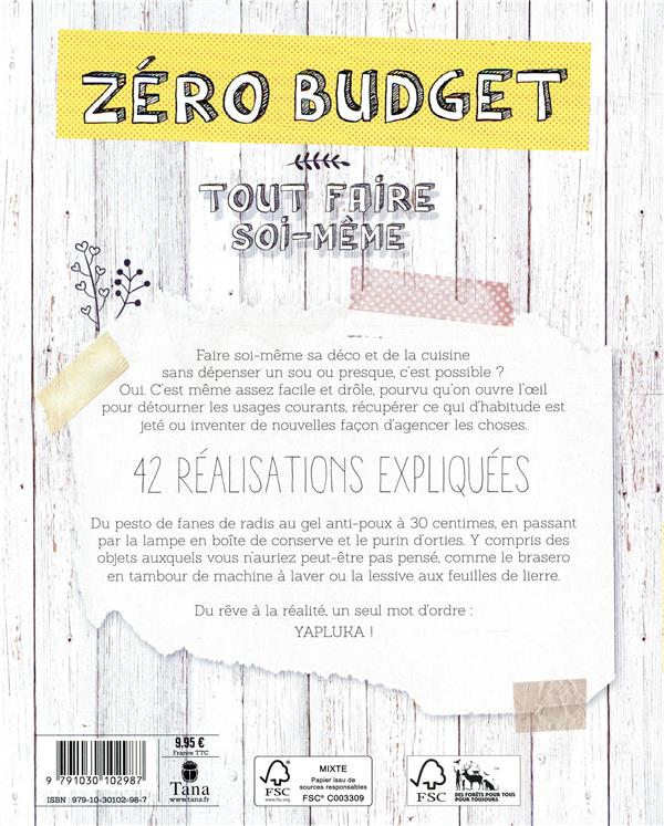 Zéro budget : tout faire soi-même