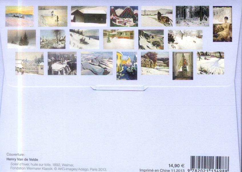Peindre la neige ; 20 cartes de voeux à poster