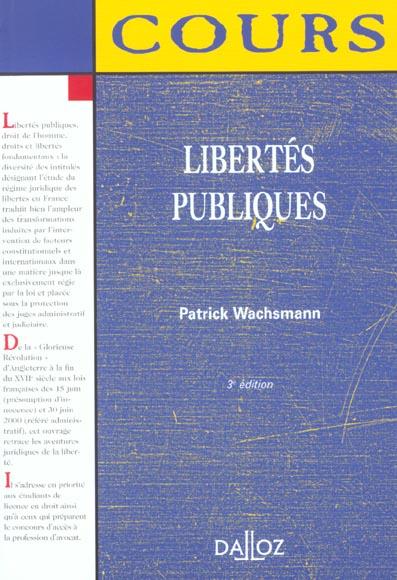 libertes publiques ; 3e edition