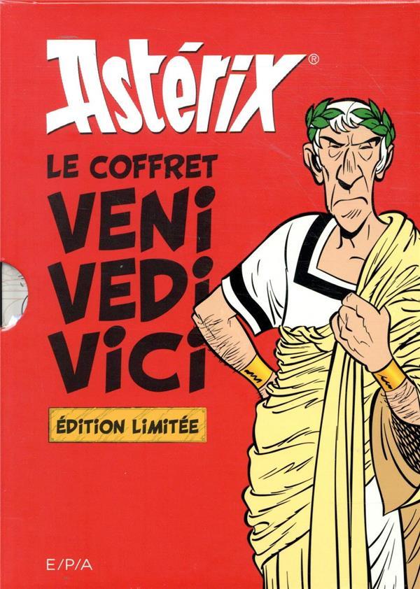 Astérix ; le coffret ; veni vedi vici ; les citations latines expliquées ; les vérités historiques