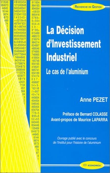 La decision d'investissement industriel ; le cas de l'aluminum